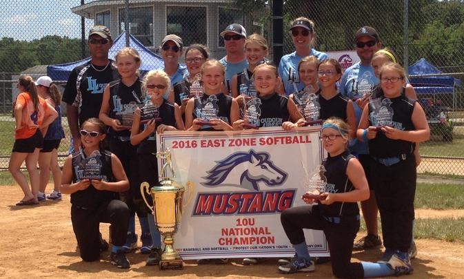 10U Liberty Pony 2016 East Zone National Champions