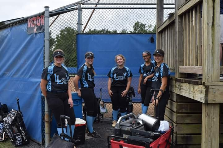 Players hang out in the dugout